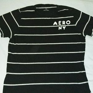 Aeropostale striped black & white Tee